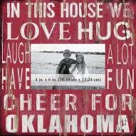 """Oklahoma Sooners In This House 10"""" x 10"""" Picture Frame"""