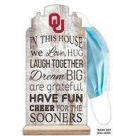 Oklahoma Sooners In This House Mask Holder