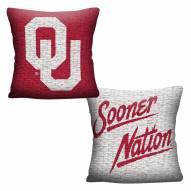 Oklahoma Sooners Invert Woven Pillow