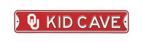 Oklahoma Sooners Kid Cave Street Sign