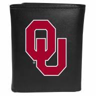 Oklahoma Sooners Large Logo Leather Tri-fold Wallet
