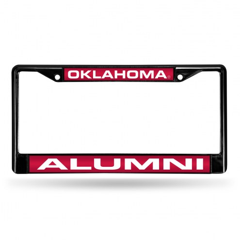 Oklahoma Sooners Laser Black License Plate Frame