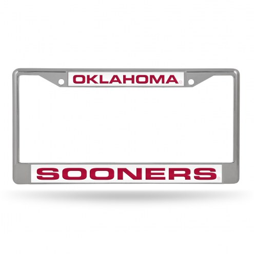 Oklahoma Sooners Laser Chrome License Plate Frame