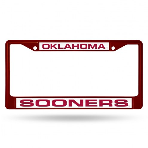Oklahoma Sooners Laser Colored Chrome License Plate Frame