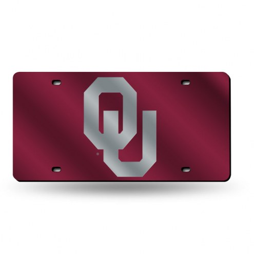 Oklahoma Sooners Laser Cut License Plate