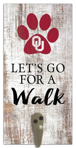Oklahoma Sooners Leash Holder Sign