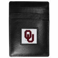 Oklahoma Sooners Leather Money Clip/Cardholder in Gift Box