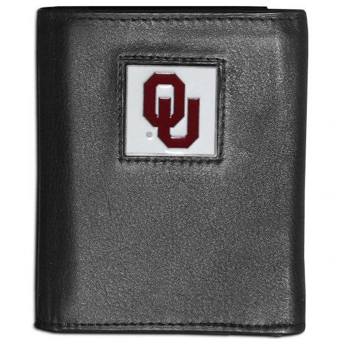 Oklahoma Sooners Leather Tri-fold Wallet