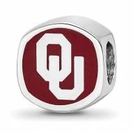 Oklahoma Sooners Sterling Silver Enameled Bead