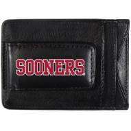 Oklahoma Sooners Logo Leather Cash and Cardholder