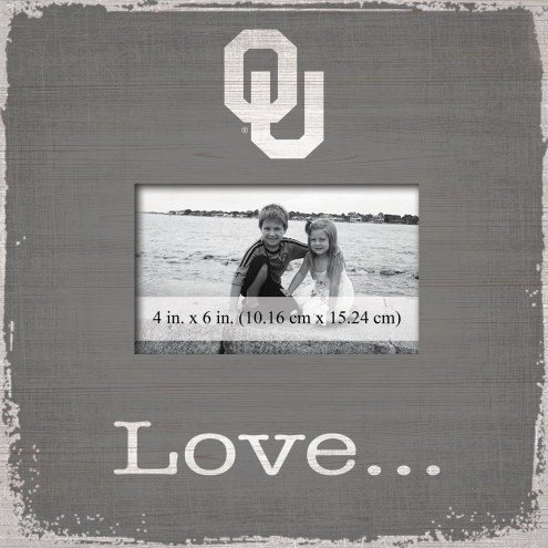 Oklahoma Sooners Love Picture Frame