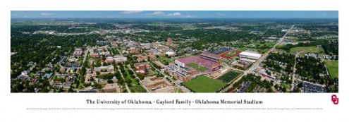 Oklahoma Sooners Memorial Stadium Unframed Panorama