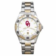 Oklahoma Sooners Men's All-Pro Two-Tone Watch