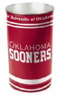 Oklahoma Sooners Metal Wastebasket
