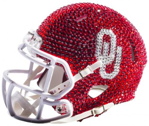 Oklahoma Sooners Mini Swarovski Crystal Football Helmet