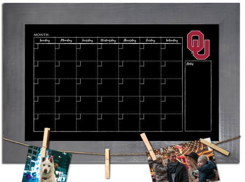Oklahoma Sooners Monthly Chalkboard with Frame