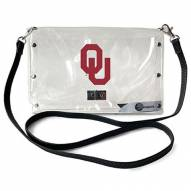 Oklahoma Sooners Clear Envelope Purse