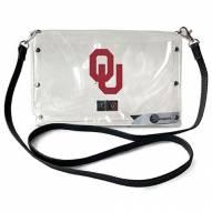 Oklahoma Sooners Clear Envelope Purse