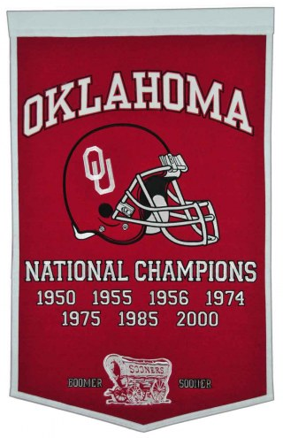 Winning Streak Oklahoma Sooners NCAA Football Dynasty Banner