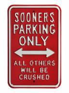 Oklahoma Sooners NCAA Embossed Parking Sign