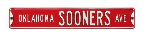 Oklahoma Sooners NCAA Embossed Street Sign