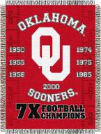 Oklahoma Sooners NCAA Woven Tapestry Throw Blanket