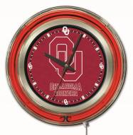 Oklahoma Sooners Neon Clock