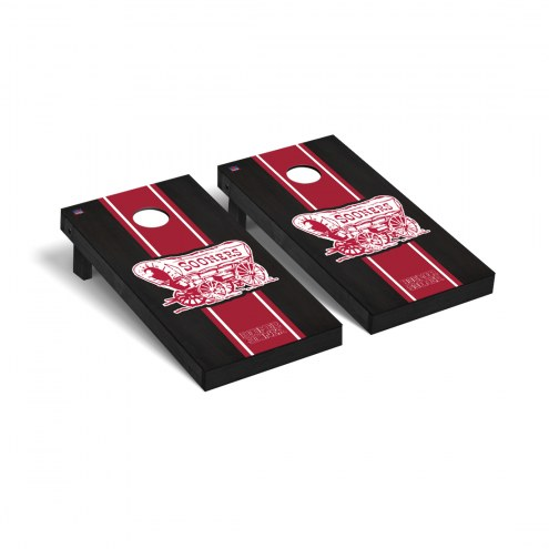 Oklahoma Sooners Onyx Stained Stripe Cornhole Game Set