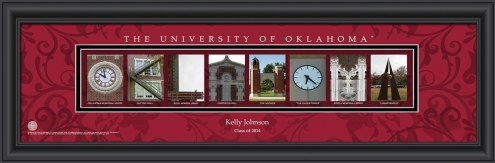 Oklahoma Sooners Personalized Campus Letter Art