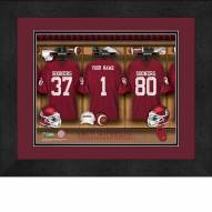 Oklahoma Sooners Personalized Locker Room 13 x 16 Framed Photograph