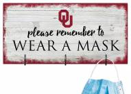 Oklahoma Sooners Please Wear Your Mask Sign