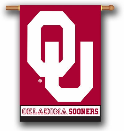 "Oklahoma Sooners Premium 28"" x 40"" Two-Sided Banner"
