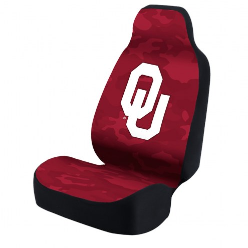 Oklahoma Sooners Red Camo Universal Bucket Car Seat Cover