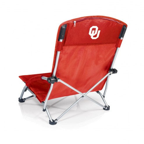 Oklahoma Sooners Red Tranquility Beach Chair
