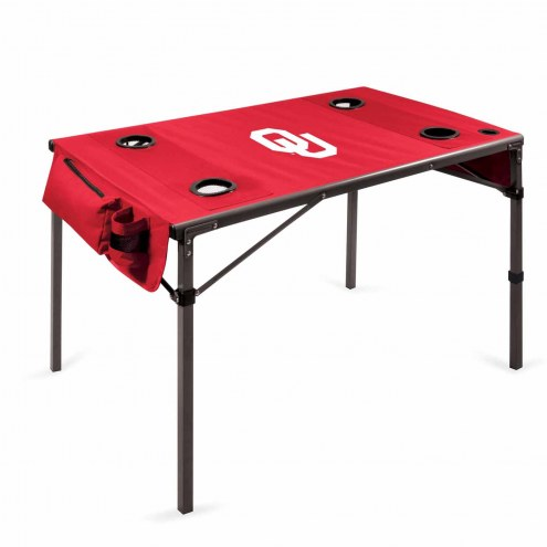 Oklahoma Sooners Red Travel Table