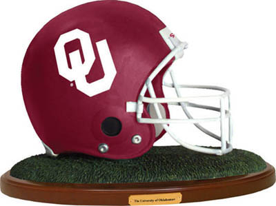 Oklahoma Sooners Collectible Football Helmet Figurine