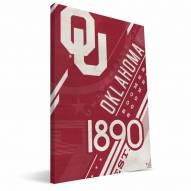 Oklahoma Sooners Retro Canvas Print