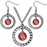 Oklahoma Sooners Rhinestone Hoop Jewelry Set