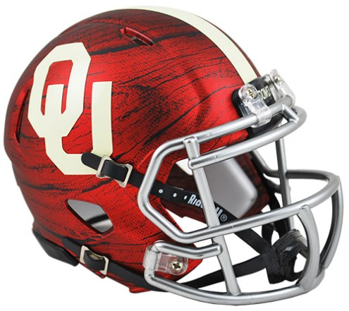 Oklahoma Sooners Riddell Speed Mini Collectible Bring The Wood Football Helmet