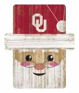 Oklahoma Sooners Santa Ornament