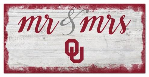 Oklahoma Sooners Script Mr. & Mrs. Sign