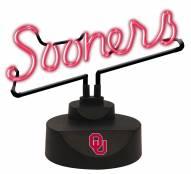 Oklahoma Sooners Script Neon Desk Lamp
