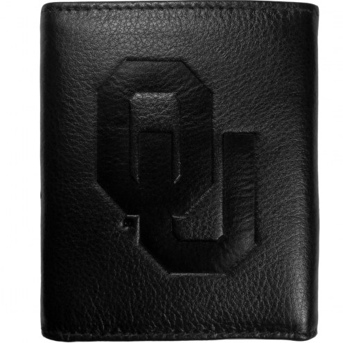 Oklahoma Sooners Embossed Leather Tri-fold Wallet
