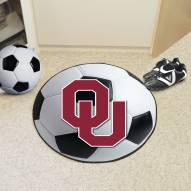Oklahoma Sooners Soccer Ball Mat
