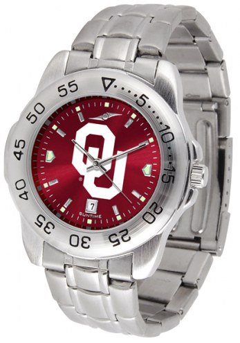 Oklahoma Sooners Sport Steel AnoChrome Men's Watch