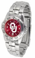 Oklahoma Sooners Sport Steel AnoChrome Women's Watch