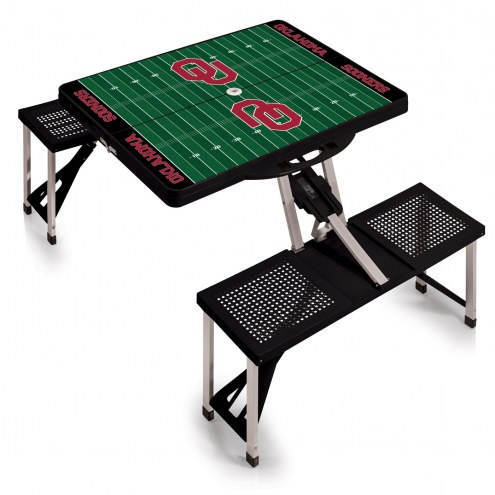 Oklahoma Sooners Sports Folding Picnic Table