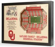 Oklahoma Sooners 25-Layer StadiumViews 3D Wall Art