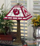 Oklahoma Sooners Stained Glass Mission Table Lamp