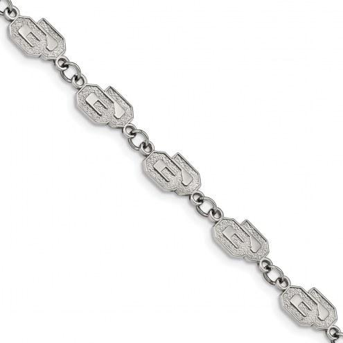 Oklahoma Sooners Stainless Steel Logo Bracelet